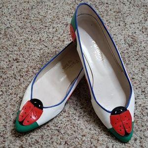 Vintage 80s Ladybug shoes